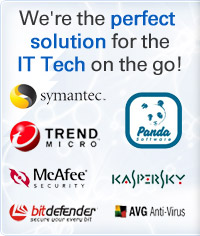 We're the perfect solution for the IT Tech on the go!